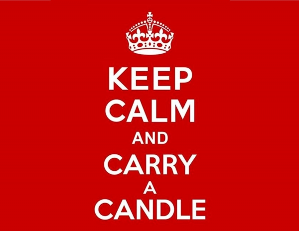 Keep Calm and Carry a Candle